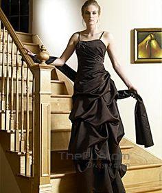 A-line Spaghetti Straps Floor-length Satin Bridesmaid Dresses 10306722