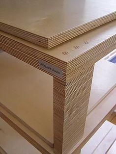 Wood hi fi racks. Wood hi fi audio support Bathroom Furniture, Wood Furniture, Furniture Design, Hifi Stand, Audio Rack, Wood Rack, Baltic Birch Plywood, Dinning Table, Luther