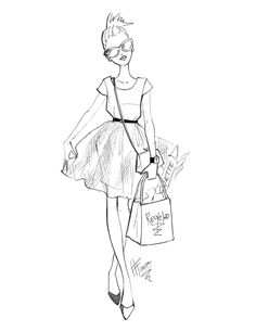 Black and White Fashion Sketches by Heather Fonseca at Coroflot.com