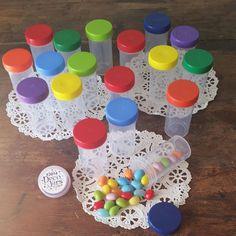 DecoJars.com - Empty - New - Ready to fill with Bulk Candy! 20 Plastic Tube JAR RX Container Rainbow Screw Top Pill Bottle 3814 DecoJars USA