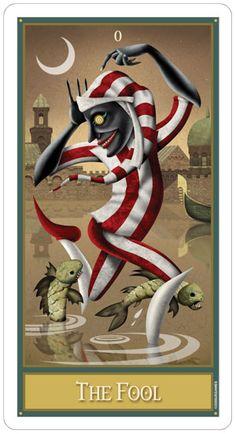 Sacred Rose Tarot - The Fool 0 - The Fool (Tarot Card) The Fool Tarot Card. †he fool Tarot Clowns, Tarot The Fool, Sphinx, Fortune Telling Cards, Pierrot, Tarot Major Arcana, Cartomancy, Illustration, The Draw