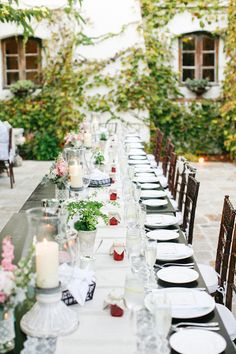 #tablescapes, #al-fresco  Photography: lane Dittoe fine art wedding photographs - lanedittoe.com Floral Design: Floral Occasions - floraloccasions.com/  Read More: http://stylemepretty.com/2013/07/03/villa-san-juan-capistrano-wedding-from-lane-dittoe-fine-art-wedding-photographs/