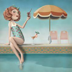 bathing.quenalbertini: by Nina De San
