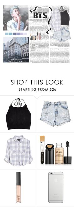 """""""Rap Monster - BTS"""" by typical-ghoul ❤ liked on Polyvore featuring River Island, One Teaspoon, Rails, Stila, NARS Cosmetics, Native Union and Too Faced Cosmetics"""