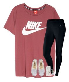 """i make the same outfit everyday ~k"" by katie-gia ❤ liked on Polyvore featuring NIKE, UGG, Kate Spade and Torre & Tagus"