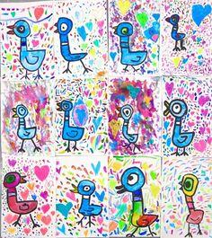 In the Art Room: Kindergarten Mo Willems Pigeons! | Cassie Stephens | Bloglovin'