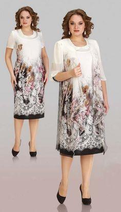 Платья для полных женщин белорусской фирмы Aira Style. Осень-зима 2015-2016
