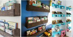 Genialne pomysły na paletowe półki.