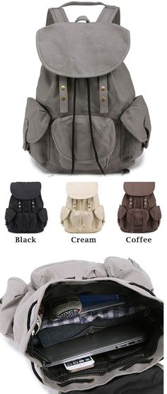 Unique High School Bag Leisure Student Travel Canvas Backpack for big sale ! #unique #bag #Leisure #travel #backpack #bag #canvas #student #rucksack