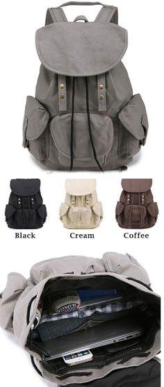 Unique High School Bag Leisure Student Travel Canvas Backpack for big sale ! #unique #bag #Leisure #travel #backpack #bag #canvas #student #rucksack
