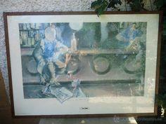 litografía o lámina de Tintín ENMARCADA- EDICIÓN LIMITADA.ARTISTA ESTEVE FORT. poster de Tintín