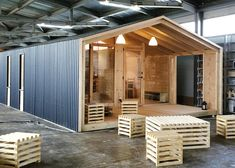 Tiny and Affordable Russian DublDom Home Can Be Assembled in J. Cabin Design, Tiny House Design, Tyni House, Diy Cabin, Micro House, Prefab Homes, Building A House, Green Building, Play Houses