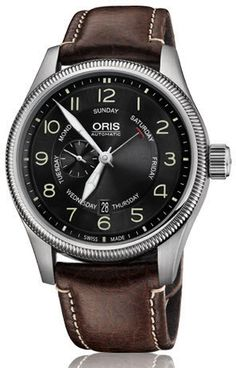 Oris Watch Big Crown Pointer Day Date Leather