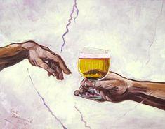 gift beer Funny Beer Poster, God's Gift Beer Art Print, Sistine Chapel Beer Parody, Anniversary Beer Gifts for Husband, Birthday Gift for Boyfriend Rock Poster, Beer Poster, Bar Kunst, Craft Beer Gifts, Desenho Pop Art, Beer Art, Birthday Gifts For Husband, Boyfriend Birthday, Michelangelo