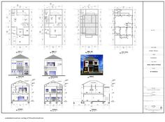 Denah Rumah Dan Tampak - Kreasi Rumah Orthographic Projection, Orthographic Drawing, Type 45, Powerpoint Design Templates, Plan Drawing, Desktop Pictures, High Quality Wallpapers, Concept Architecture, Home Design Plans