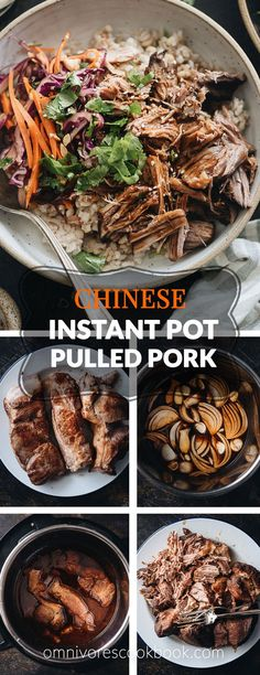 Pork Recipes Asian-Style Instant Pot Pulled Pork – Tender, juicy pork with a melt-in-your-mou… Asian Pork Shoulder Recipe, Pork Shoulder Recipes, Pork Shoulder Roast, Pork Shoulder Crock Pot, Pulled Pork Recipes, Asian Pulled Pork Recipe, Slow Cooker Pork, Instant Pot Pressure Cooker, Asian Style