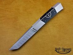View and order this custom handmade knife by Ken Steigerwalt with blade length of 3 inches, blade steel Damascus Steel by Maker, and handle material Pen Shell W/Gold Inlays Stock number 629 Damascus Blade, Damascus Steel, Handmade Knives, Custom Knives, Knifes, Swords, Edc, Weapons, Larger