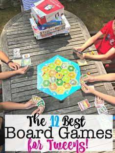 These are the 12 best board games for tweens! Every parent should have a shelf of board games for ki Birthday Party At Home, Birthday Party Games For Kids, Birthday Activities, Activities For Kids, Birthday Ideas, Crafts To Do When Your Bored, Tween Party Games, Card Games For Kids, Games For Tweens