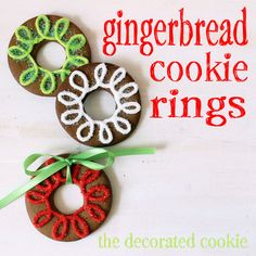 Gingerbread Cookie Rings from @Meaghan Mountford on inkatrinaskitchen.com #BringtheCOOKIES