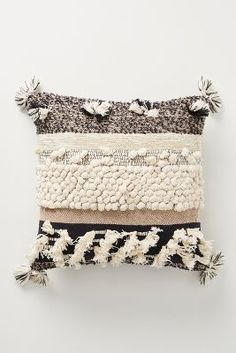 Shop unique accent pillows aplenty—from feminine to boho to floral printed styles, Anthropologie has a wide selection. Shop our accent pillows today. Boho Throw Pillows, Black Pillows, Accent Pillows, Decorative Throw Pillows, Bohemian Pillows, Throw Blankets, Pillows On Bed, Knitted Pillows, Fall Pillows
