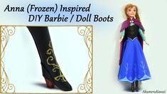 DIY Barbie / Doll Boots - Anna (Frozen) inspired Tutorial