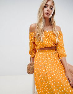This is absolutely stunning ! Polka dot orange co ord