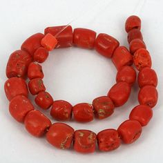Antique Red Mediterranean Trade Coral Beads