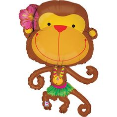 These Monkey foil balloons have linking arms so you can link lots of them together to great a...