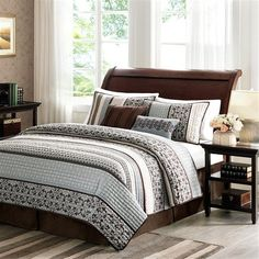 Madison Park Princeton 5 Piece Coverlet Set – Blue – Full/Queen | Home Style Studio