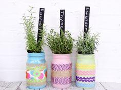DIY: Tinted Mason Jars in Rainbow - Momtastic