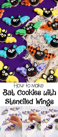 How to Make Bat Cookies with Stenciled Wings   The Bearfoot Baker