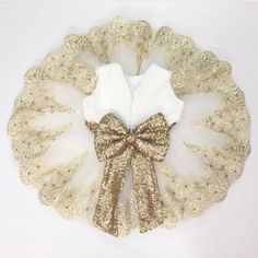 Items similar to White dress Cute Baby Girl Outfits, Dresses Kids Girl, Kids Outfits Girls, Baby Dress Patterns, Baby Clothes Patterns, Wedding Flower Girl Dresses, Lace Flower Girls, Gold Dress, White Dress