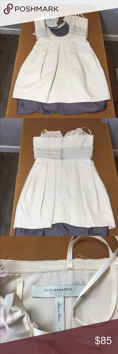 Gorgeous BCBG Maxazria Runway Collect. Dress size0 This has been worn once but was to snug. This is a gorgeous dress from BCBG Maxazria's Runway collection. Size 0 BCBGMaxAzria Dresses Mini