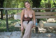 Boobs out at the park