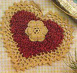 Chenille Christmas Heart Decoration