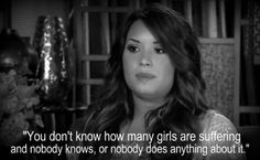 we need to help raise awareness, you will most likely never read this but thank you so much Demi for talking about this it has saved so many lives including mine.