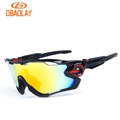 c4ef862941 Obaolay Polarized Cycling Bike Sun Glasses Outdoor Sports Bicycle Bike  Sunglasses TR90 Goggles Eyewear 5 Lens
