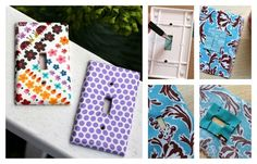 Fabric / 19 Adorable Ways To Decorate A Light Switch Cover (via BuzzFeed)