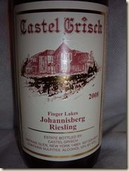 Castel Grisch - Seneca White Dream:  New York Wine (Niagara and Delaware blend). My all time favoirite. Wine label featured in photo is for their Johannsberg Riesling. I could not find a photo of the Seneca White.