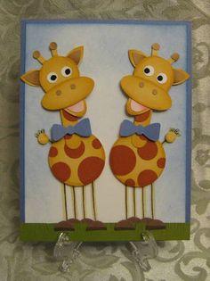 Stampin' Up! Giraffe Punch Art.