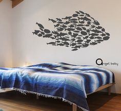 Fish inside a Fish Ocean Wall Graphic Nautical Vinyl Decal Under the Sea on Etsy, $75.00