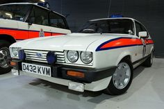 1986 Greater Manchester Police Ford Capri 2.8 injection - Cool Classic cars by deanhammersley, via Flickr