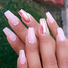Something Beautiful: Get Inspired With Amazing Pink Acrylic Nails ★ See more: https://naildesignsjournal.com/amazing-pink-acrylic-nails/ #nails