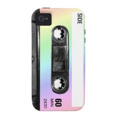 Pastel Rainbow Label Cassette Vibe iPhone 4 Cases