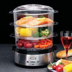 Deni 7600 Tier Food Steamer Stainless Steel Boiler