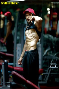 Hrithik Roshan. Haha hey guys.. Just felt like lifting up my shirt all of a sudden..