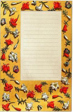 Design - Paper - Border, medieval 3 | Vintageprintable