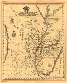 ignacio deyá - mappa paraguay, c. 1746. map of the jesuitic province 'paraquariae' or paraguay: created by the king of spain in 1604, included the territories of argentina, chile, paraguay, uruguay, part of bolivia (chiquitos missions and moxos) and brazil (part of matto grosso, and states of paraná, santa catarina and rio grande do sul). there are the names of native peoples who inhabited the area as well as the main roads, the most inland, where they went.
