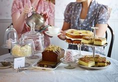 Tea party - Takes you to BBC Food site - and brilliant ideas and recipes on what to do/serve for afternoon/anytime 'tea' occasion!!