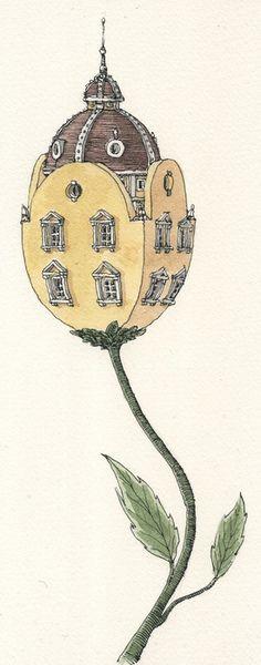 House Flower  http://mothtales.tumblr.com/post/493538153